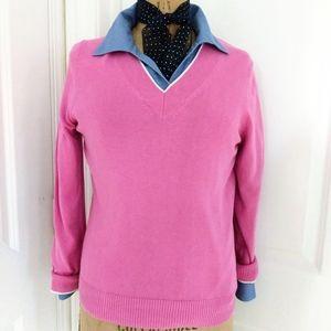 Brooks Brothers 346 Pink V Neck Sweater Size L